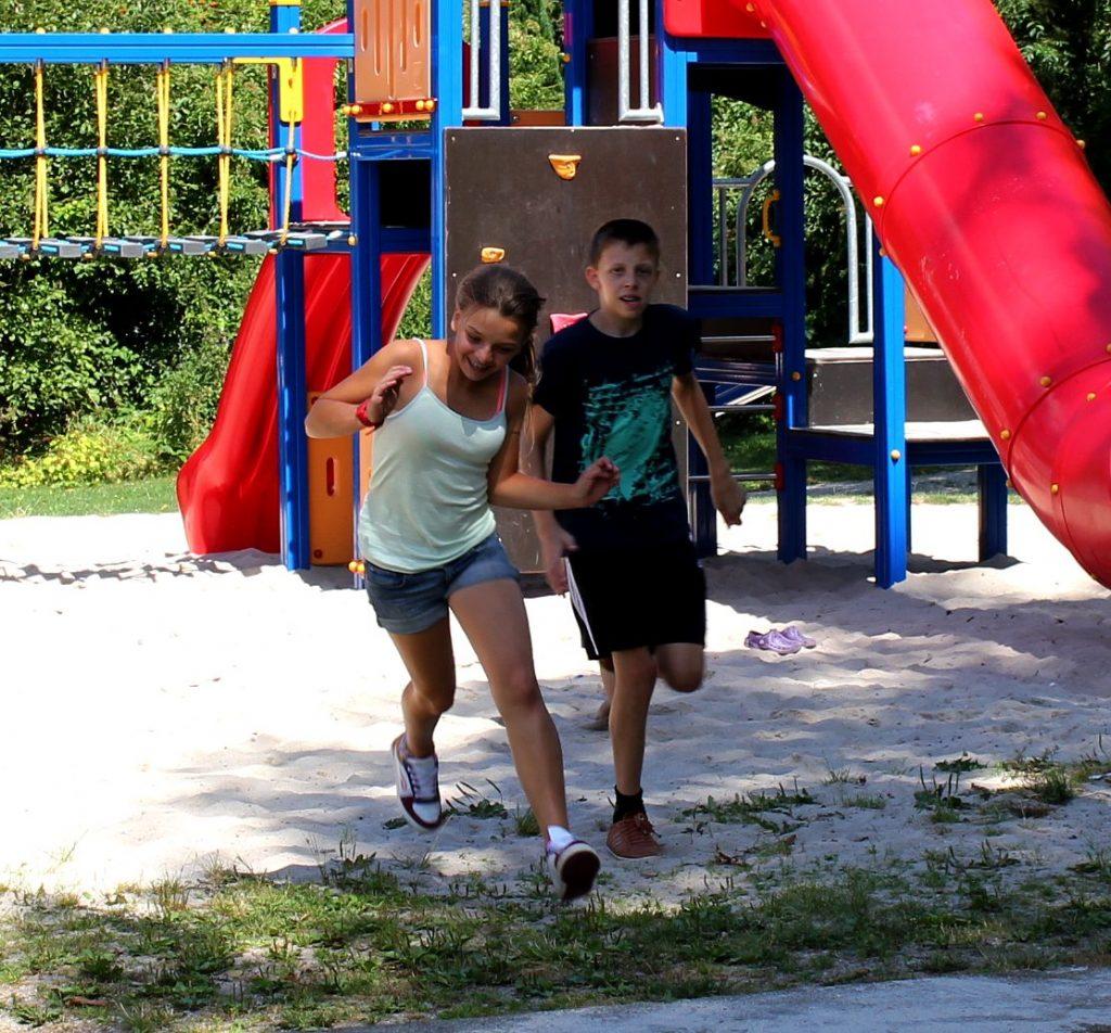 Camping-Mobilheimpark Spielplatz